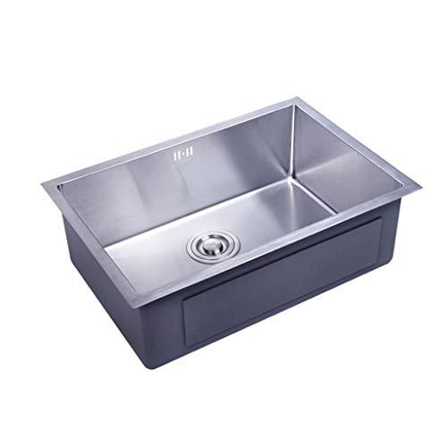 Kitchen Sink Single Bowl 63x43CM 304 Edelstahl verhindern Lärm Anti-Kondens-Beschichtung Design Küchenspülen 0617