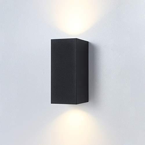 LUSSIOL E350048 Snoozy M - Aplique de pared (metal, 35 W), color negro