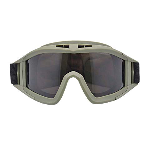 YUI Taktische Schutzbrille Desert Glasses Desert Winddicht Anti-Fog Sanddicht CS Tactical Paintball Shooting Glasses Militär Shooting Brille Wanderbrille UV400