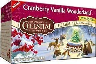 Celestial Seasonings Cranberry Vanilla Wonderland Holiday Tea 20 ct 2 Boxes (2 boxes)