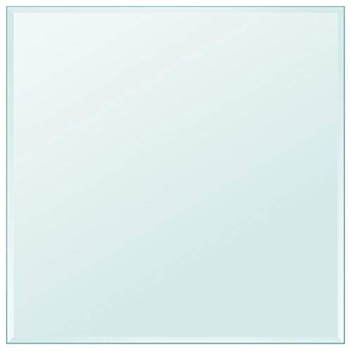"""Unfade Memory High Strength Tabletop Tempered Glass/Thickness 0.3""""/ Flat Polish Eased Edge (27.6""""x27.6"""", Square)"""