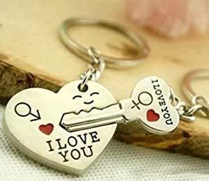 """2teiliger Paar Schlüsselanhänger\""""Schlüssel zu meinem Herzen\"""" I love you - ideales Geschenk für Verliebte zum Valentinstag, Jahrestag, Hochzeitstag"""