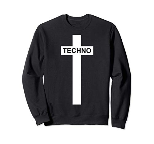 Techno Religion Cruz Blanca - Regalo Techno Sudadera