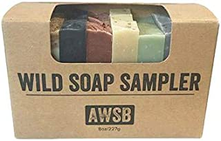Wild Soap Sampler Gift Set with 8 Small, Natural & Organic Bar Soaps for Guests or Travel, Handmade by A Wild Soap Bar