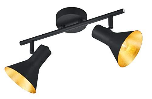 Reality Leuchten R80162002  Spotleuchte, Metall, schwarz / gold