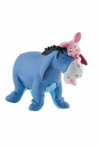 Bullyland 12324 - Spielfigur, Walt Disney Winnie Puuh, I Aah mit Ferkel, ca. 6,8 cm