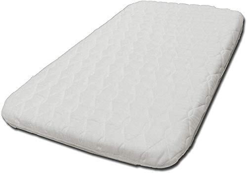 NEXT-2-ME Baby Bedside Crib Mattress (83 x 50 x 5 cm) Baby Toddler Cot Bed Next to Me Sleeping Cribs Breathable & Washable Quilted Microfiber Material (Pack of 1)