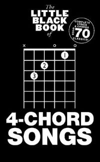 Den lilla svarta boken med 4 kordsånger – arrangerade för gitarr – ackord [notic]