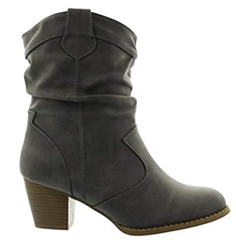 King Of Shoes Botines de mujer con tacón en bloque
