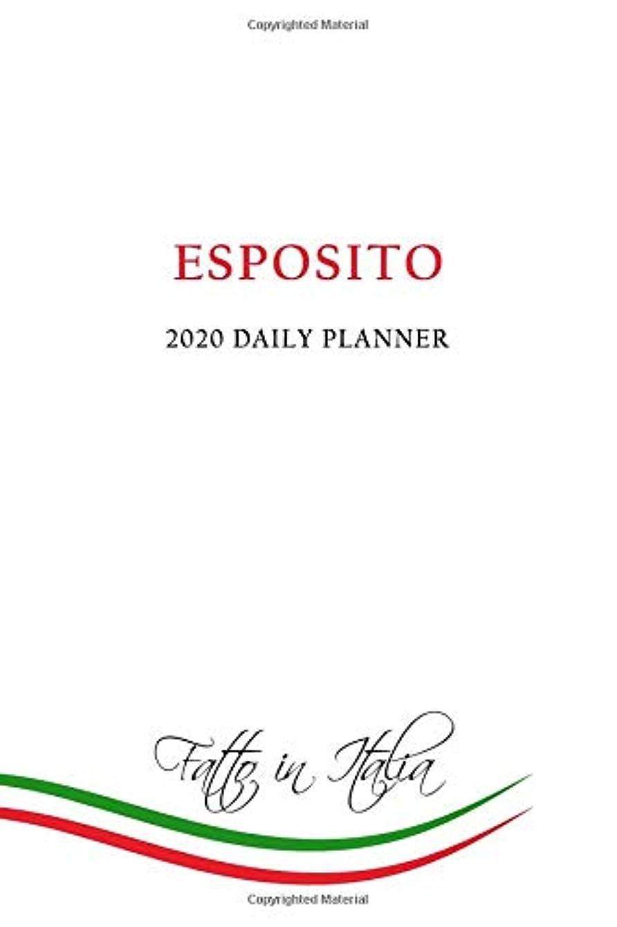 挨拶散文うなる2020 Daily Planner: Esposito Family