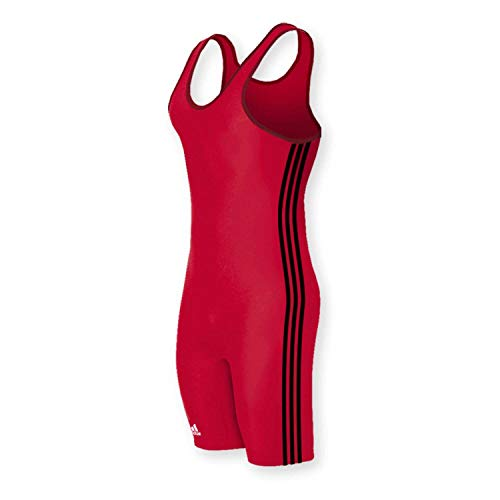 adidas As107s Wrestling Singlet Red/Black 3X