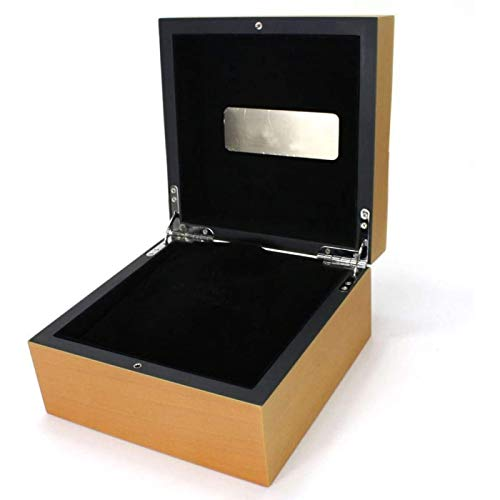 ANZRY Caja de Almacenamiento de Relojes Caja de Almacenamiento de Exhibición de Relojes Colección de Joyas Organizador de Casos Soporte Caja de Reloj de Madera Individual