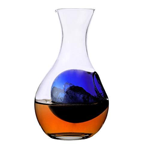Casual Decantador De Vino De Jarra De Vino De Hielo 250ml / 380ml / 550 Ml Dispensador De Vino Cristal Jugo Sin Plomo Juguete De Jarra De Sala De Vinos MUMUJIN (Size : 380ML)
