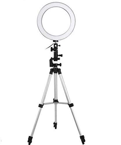 Rewy PQL123 Light Weight Big LED Ring Light with 3 Brightness Level for Unisex Saloon | Studio | Selfie | Mack up | & All Shooting Purpose Easy to Carry Compatible with All Devices