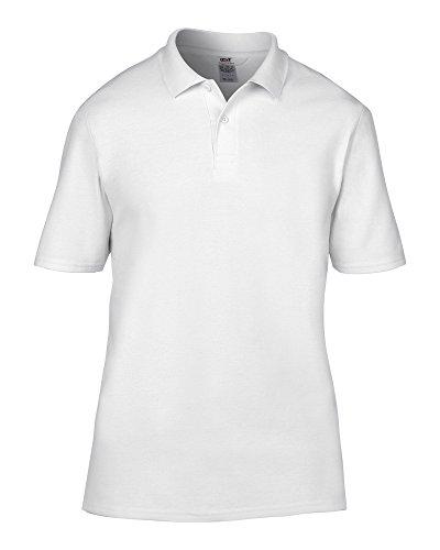 Anvil Enclume Enclume Adulte Double piqué Polo - Blanc - Large
