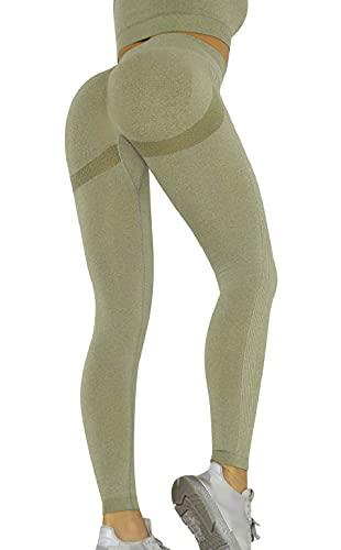 heekpek Leggings Fitness Donna Vita Alta Yoga Palestra Leggins Sportivi Pantaloni Push up Booty