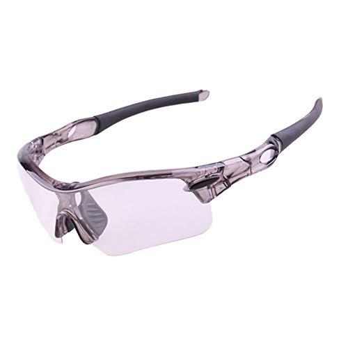 Sonnenbrillen Mode Radfahren Windschutzscheibe Outdoor Sports Mountainbike Brille Sport Sonnenbrillen Schutz Farbwechsel Brillenglas Und Polarisierte Objektiv Set Für Männer Frauen Outdoor-aktivitäten