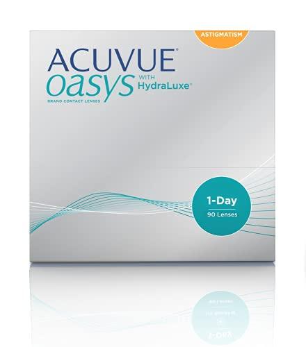 ACUVUE Kontaktlinsen Acuvue Oasys 1-Day for Astigmmatism Tageslinsen weich, 90 Stück/ BC 8.5 mm / DIA 14.3 mm/ CYL -0.75 / ACHSE 50 / -1.5 Dioptrien