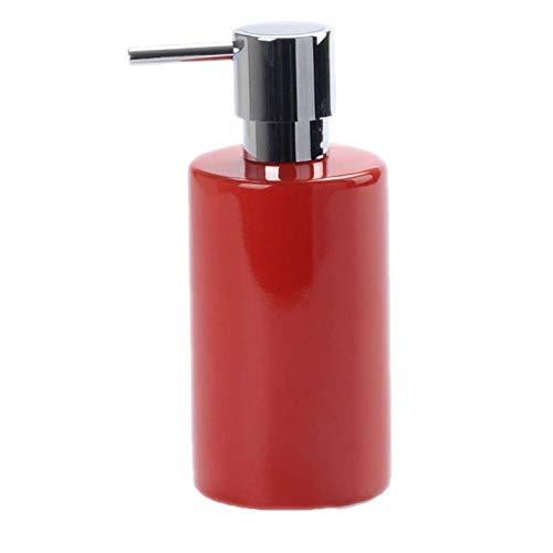 Huachaoxiang Seifenspender/Lotionspender Keramiklotion Flasche Einfacher Nordischer Stil Seifenspender Seifenspender,Rot
