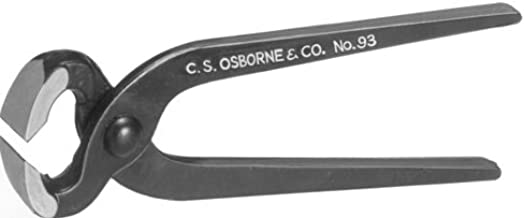 CS Osborne 93 Shoemakers Pincer End Cutter Nipper Plier best tool for Carpenters, Nails, and More