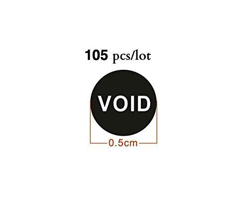 etichette di garanzia di annullamento sigilli di manomissione rotondi da 6 mm Etichette con ologramma di sicurezza 1200