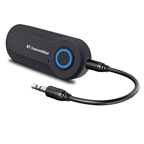 DUTTY 2 en 1 USB Bluetooth Adaptador transmisor Receptor indicador LED 3,5 MM AUX estéreo para PC TV Coche Auriculares Adaptador inalámbrico