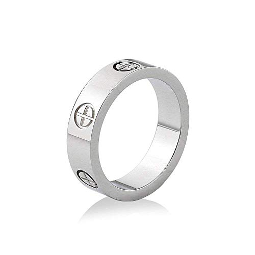 Love Ring-Lifetime Just Love You for Men Women (Silver9)