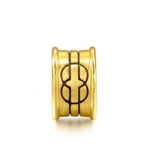 Dxlts Charms Armbänder 24 Karat /99.9‰ Gold DIY Schmuck Charm Anhänger Kompatibel Europa Armband & Halskette Birthday Christmas Valentine's Day Thanksgiving Geschenk, 1.5g,7.48in/19cm