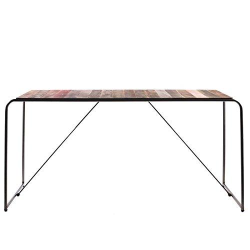 Indhouse Plat – Table de Salle à Manger Style Industriel en Bois et métal pour décoration Vintage et loft