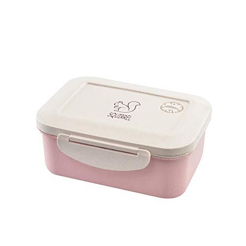 Boîtes À Lunch Container, 3 Compartiment Étanche Boîte Réutilisable Déjeuner avec Un Design Catch Lock pour L'école Et Le Bureau De Pique-Nique Et Voyage,Rose