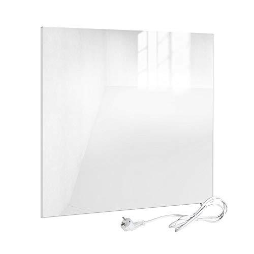 Viesta H320-GW Infrarotheizung Glas 320 W, weiß - Heizpaneel mit höchstem Wirkungsgrad Dank Carbon Crystal Technologie - Flache Glasheizung aus Sicherheitsglas - Elektroheizung mit Überhitzungsschutz