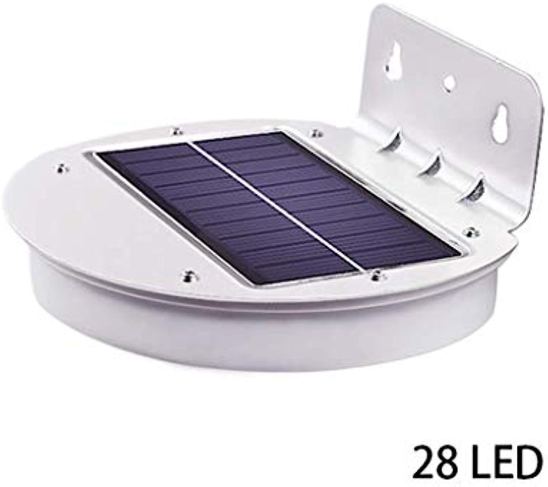 Cxmm Solarlicht-Bewegungs-Sensor im Freien, drahtloser wasserdichter Auenwand-Licht-angetriebener Sicherheits-Solarlicht-Garten beleuchtet 28pcs LED für Garage-Patio-Zaun-Weg-Yard