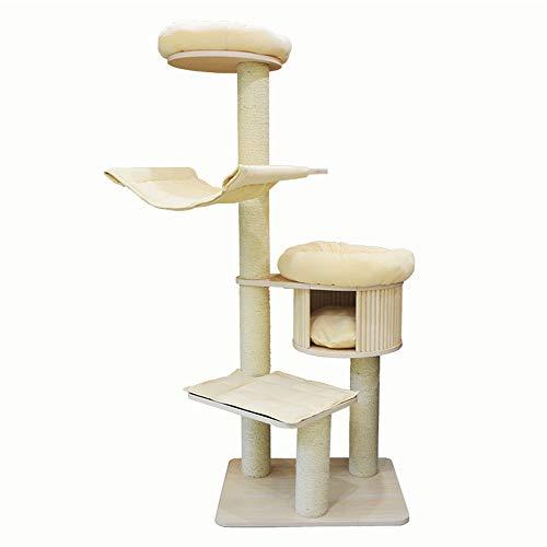 Torre de árbol de Gato Juguete del gato postal Escalada Cat Cat marco de la jerarquía del árbol del gato de cinco capas de sisal sólido Cat Scratch gato grande del tablero del rasguño Cat Rasguing Pos