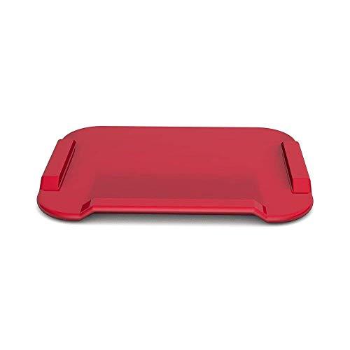Ornamin Essbrettchen 22 x 17 cm rot mit Blindenschrift (Modell 900) / Schneidebrett, Fixierbrett, Einhänderbrett