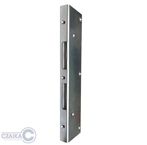 CZAIKA - Sicherheitswinkelschließblech - rechts & links verwendbar - 300 mm lang - 20 x 60 mm - verzinkter Stahl
