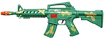 Velocity Toys M4 Machine Gun Friction Toy Gun Perfect for Kids No Batteries Required