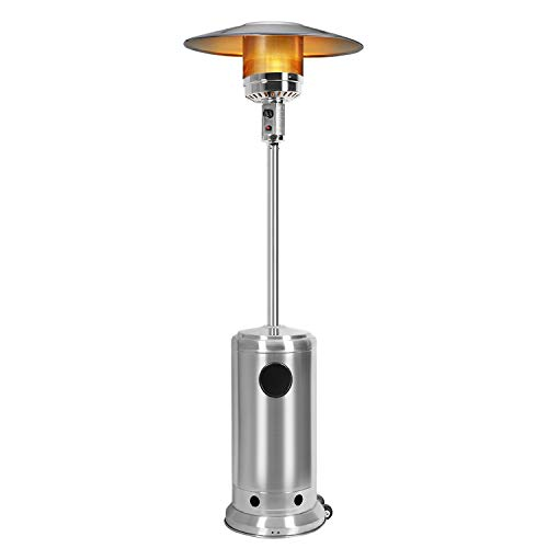 Bathonly Environmentally Safe Patio Heaters Garden Heater with Wheels,Commercial Outdoor Patio Heater Propane