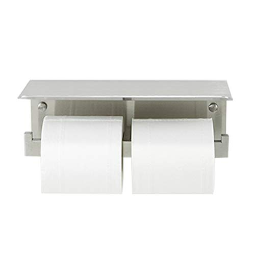 crw Double Toilet Paper Holder with Shelf