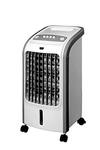 BluMill Klimaanlage, Mobiler AirCooler Mit 3 verschiedenen Geschwindikeiten, Luftreiniger und Luftbefeuchter ohne Chemikalien