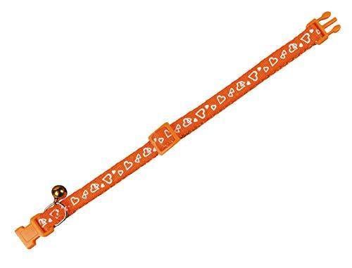 Nobby Katzenhalsband Herz orange