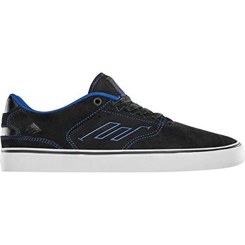 Emerica The Reynolds Low Vulc, Chaussures Mixtes pour Adultes, Gris foncé/Noir - Noir - Noir/Bleu, 42 EU