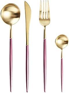 Dinnerware Cutlery Set Tableware Set Gold Cutlery Stainless Steel Spoon Fork Spoon Tableware Kitchen Spoon And Fork Set - gibson dinnerwar