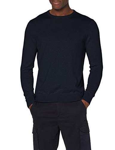 Marchio Amazon - MERAKI Pullover Cotone Uomo Girocollo, Blu (Navy), XXL, Label: XXL
