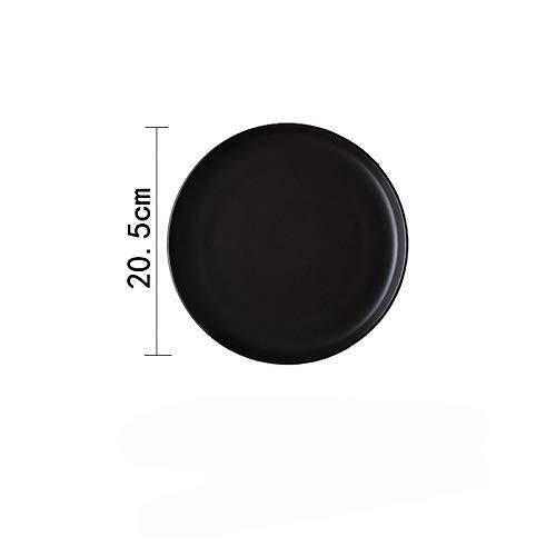 Weiß 10-Zoll-Haushalt Rundes Geschirr Keramik Western Food Teller Kuchenplatte Salatplatte Steak Pasta Teller