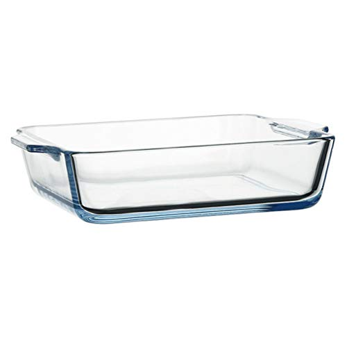 Cabilock Klarglas-Auflaufform 500 Ml Gehärtetes Glas Mikrowelle Backform Längliches Essen Serviergeschirr Backofen Basics Auflaufform für Brotsteak
