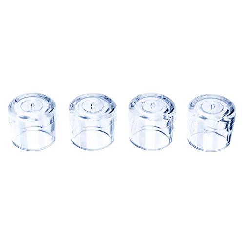 Floridivy 4 stuks Rubber meubels Tafel Stoel Been Vloer Feet Cap Tafelpoot beschermer, stoelpoot dekking beschermer Doorzichtig