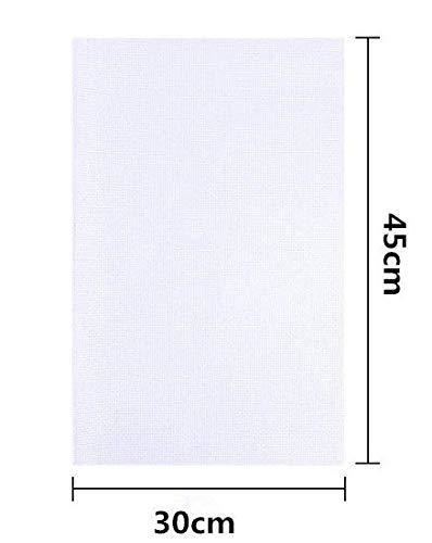 """""""N/A"""" 5 Stück weiße Aida Leinwand,Kreuzstichstoff, Klassische Reserve Aida Stoff, Kreuzstich Tuch 30 * 45 cm Stickerei Tuch für Kreuzstich, Kreuzstich Stickerei Stoff,11 Count"""