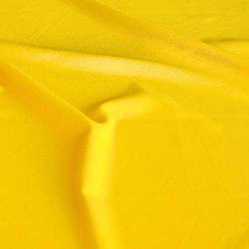 TOLKO Modestoff | Dekostoff universal Stoff zum Nähen und Dekorieren | Blickdicht, knitterarm | Meterware (Gelb)