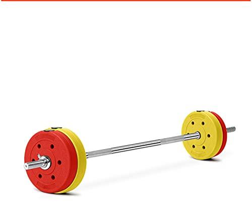 YQCH Colores Barbell Fitness Home Dumbbell Combinación Juego de combinación de Barra Recta Equipo de elevación de Peso Squat Bench Press Austrian Bar Barbell (Color : 30kg)