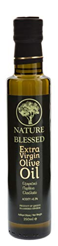 Nature Blessed Huile d Olive Extra Vierge Bouteille en Verre 250 ml